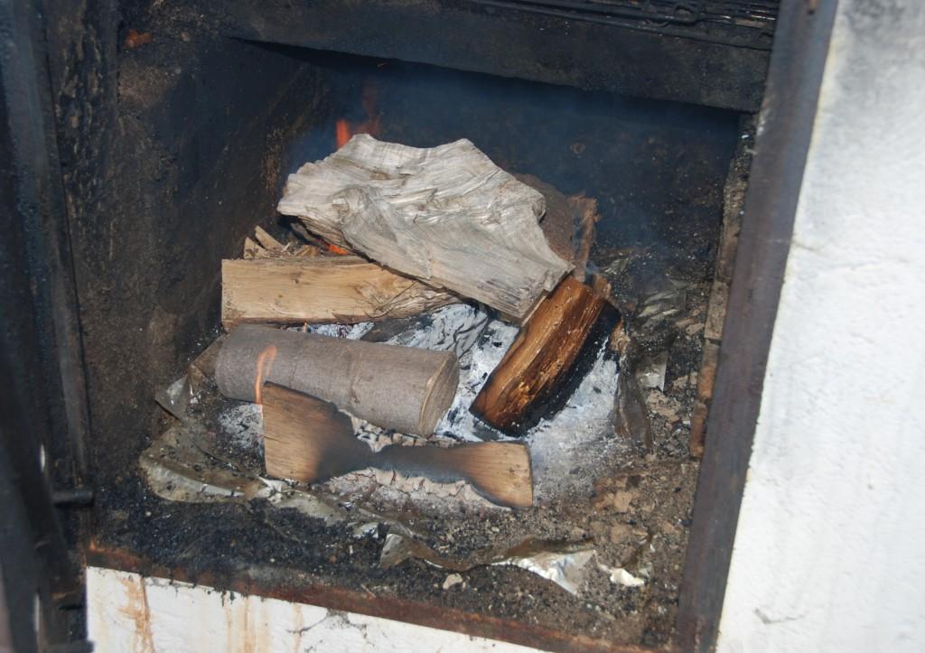 Brænde i rygeovnen