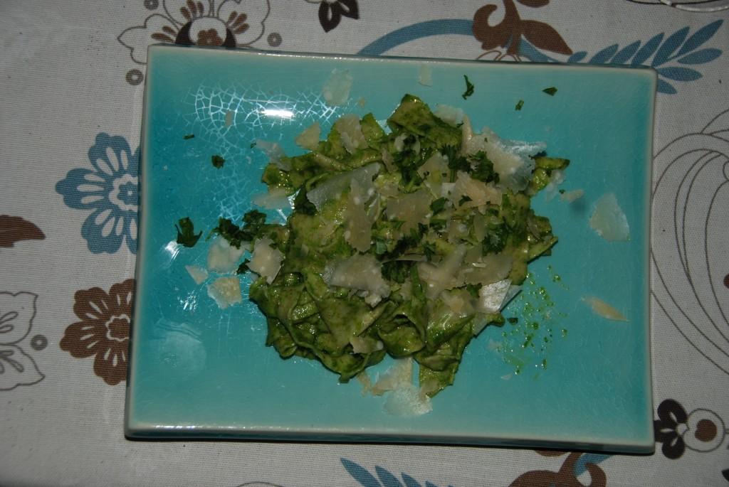 Pasta med hjemmelavet pesto